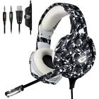 ONIKUMA Xbox one Gaming Headset, PS4 Headset with 7.1 Surround Sound, Noise Canc