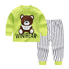 Cartoon Sleepwear Toddler Baby Boys Girls Nightwear Pyjamas Set Outfit Homewear