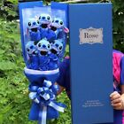 NEW Cartoon Stitch Plush Toys stitch Bouquet with Artificial Flowers party gift