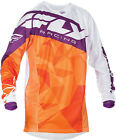 Fly Racing Kinetic Crux Orange ATV MX Motocross Offroad Motorcycle Riding Jersey