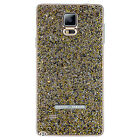 NEW 100% Authentic Swarovski Crystal Battery Cover Galaxy Note 4, Silver / Gold
