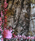 Handmade FLEECE TIE-BLANKET 60X90 XL or 60X72 Realtree HD Camouflage Pink -2 lyr