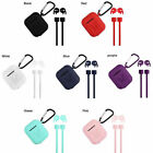 4in1 For Apple AirPods Silicone Case Earphone Charger Skin Protective Cover Pods
