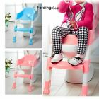 Baby Training Toilet Potty Trainer Seat Chair Toddler W/Ladder Step Up Stool BR image
