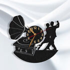Tango Dancer Wall Clock WOOD BIG Classic Tango Retro Dance School Wall Art Decor
