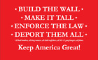 Build the Wall! Re-elect Trump 2020 tee shirt! image