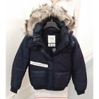 ABERCROMBIE & FITCH WOMENS PUFFER JACKET COAT NAVY SIZE MEDIUM