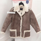 ABERCROMBIE & FITCH WOMENS FAUX SHEARLING COAT JACKET TAUPE SIZE LARGE