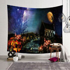 Halloween Tapestry Pumpkins Tree Print Wall Hanging Tapestry Art Home GL