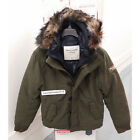 ABERCROMBIE & FITCH MENS LAKE ROAD PARKA 2-in-1 JACKET OLIVE SIZE MEDIUM A&F