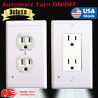 Внешний вид - Duplex Wall Outlet Cover wall plate with led night lights Ambient light sensor