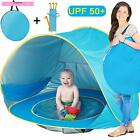 MAXSASI Baby Beach Tent, Pop Up Portable Sun Shelter with Pool, 50+ UPF UV Prote