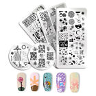 NICOLE DIARY Nail Stamping Image Plate Nail Art Stamp Stencil Template