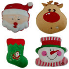 Внешний вид - Squishy Christmas Holiday Microbead Santa Reindeer Snowman Stocking Pillow LED