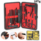 Manicure Pedicure Nail Care Set 18 Piece Cutter Cuticle Clippers Kit Gift Case
