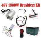 1800W 48V Brushless Motor Speed Controller Box Foot Pedal Battery F E-Gokart ATV