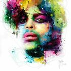 PRINCE PURPLE RAIN BY PATRICE MURCIANO (ART PRINTS) KEYRINGS-MUGS-ART PRINTS