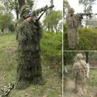 4 Pieces Ghillie Suit Woolland 3D Camo Camouflage Forest Hunting with S5DY 01