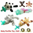 Kyпить Baby Pacifier Silicone Pacifiers With Plush Toy Giraffe Nipple Soother Cute BR на еВаy.соm