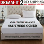 Mattress Cover Protector Waterproof Pad Full/Queen/King Size Mattress Bed Cover image