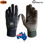 Men's Golf Gloves with Ball Marker Pair Winter Waterproof Warm Windproof Black