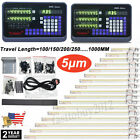 2 3 Axis Digital Readout DRO Display Linear Glass Scale Encoder Bridgeport Mill
