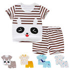 2PCS Toddler Baby Boys Fashion Short Sleeve T-shirt + Pants Summer Clothes Set