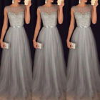 Women Lace Formal Evening Party Cocktail Bridesmaid Wedding Prom-Gown Long Dress
