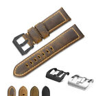 22MM 24MM Genuine Vintage Assolutamente Calf Leather Band Strap for Panerai image