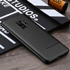 For Samsung S8 Case Note 9 S9 Luxury Carbon Fiber Soft Silicone Armor Thin Cover