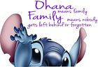Lilo & Stitch Ohana Means Family Quote Decal WALL STICKER Home Decor Art Mural