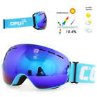 COPOZZ brand ski goggles double layers UV400 anti-fog big ski mask glasses skiin