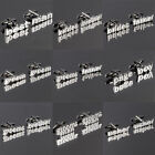 DQT Cut Out Words Casual Formal Wedding Title Plated Cufflinks