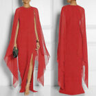 Women Maxi Dress Nightclub Prom Long Sleeve Wedding New Loose Formal Gown 5Color