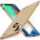 For iPhone XS Max Case XR X 8 Plus 7 Plating Ultra Slim Hybrid Rubber TPU Cover