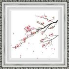 Wall art Print Cherry Blossom Floral Pink Green Flowers Plants Bedroom *3for2*