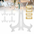 """5pc 4-7"""" Clear Plate Display Easel Stand Picture Art Holders Frame Award Holder"""