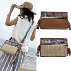 Women Ethnic Style Straw Bag Summer Beach Rattan Shoulder Bags Handbag Crossbody