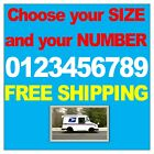 1 White Reflective Number Vinyl Decal Sticker Street Address Mailbox Car House