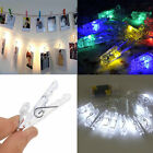 New 30 Led Photo Clip Peg String Lights Battery Operated Home Party Decor Uk
