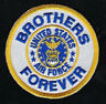 US AIR FORCE BROTHERS FOREVER HAT PATCH LOGO PIN UP FLIGHTSUIT EAGLE VETERAN WOW