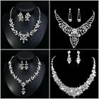 Stunning Crystal Diamante Evening Wedding Prom Necklace & Earring Jewelry Sets