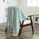 Orleans Collection Ultra Velvet Plush Printed Fringe Luxury Throw Blanket image