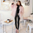 Pink Faux Sheep Fur Coat 4 inches Long Hairy Shaggy Jacket Long Coat Outerwear