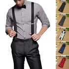 Men Brace Suspender Y Back Trousers Adult Leather Heavy Duty Clip On Fashion 1pc