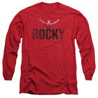 Rocky Long Sleeve T-Shirt Distressed Victory Red Tee $29.99 USD on eBay