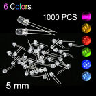 1000X LED Diodes All Colors High Bright 5mm Good Quality Emitting Diffused Bulb