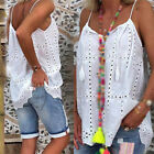 Women Tops Holiday Sling Fashion Blouse Plus size Camisole Hollow out Vest