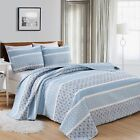 Kadi Collection Reversible 3-Piece Quilt Set with Shams By Home Fashion Designs. image