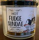 BATH & BODY WORKS SWEET SHOPPE COLLECTION 3 WICK CANDLES DONUT CHAMPAGNE FUDGE